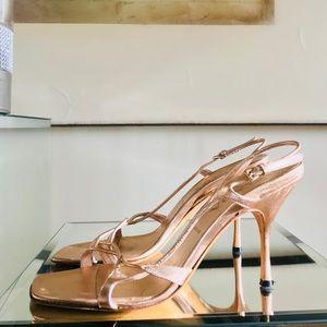 Prada High Heel Sandals Rose Gold - Gorgeous!
